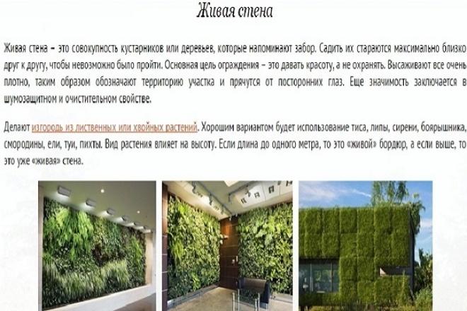 Создам статью на тему кулинария, мода, бизнес, ландшафтный дизайн до 1000 зн. 1 - kwork.ru