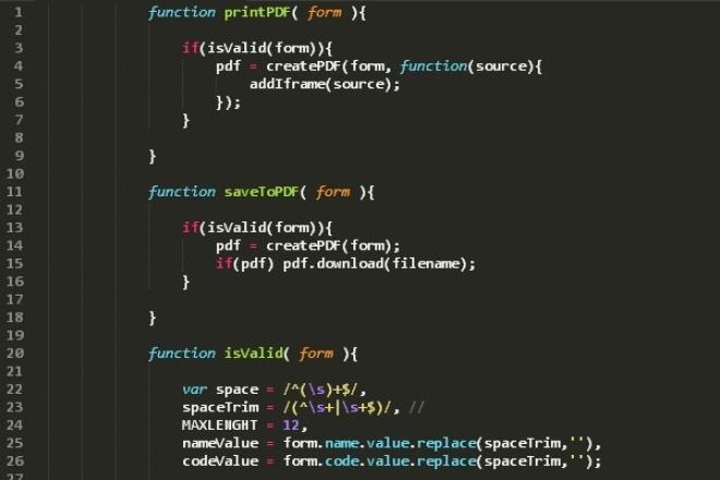 напишу на JavaScript|JQuery 1 - kwork.ru