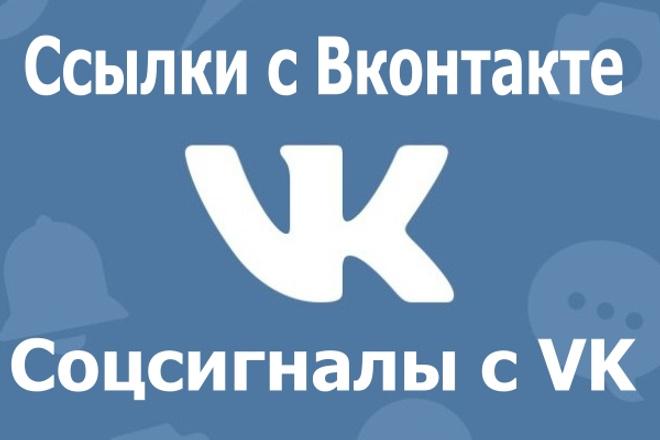 30 ссылок с соцсети Вконтакте 1 - kwork.ru