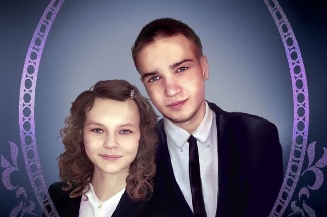 Напишу графический портрет по фотографии 1 - kwork.ru