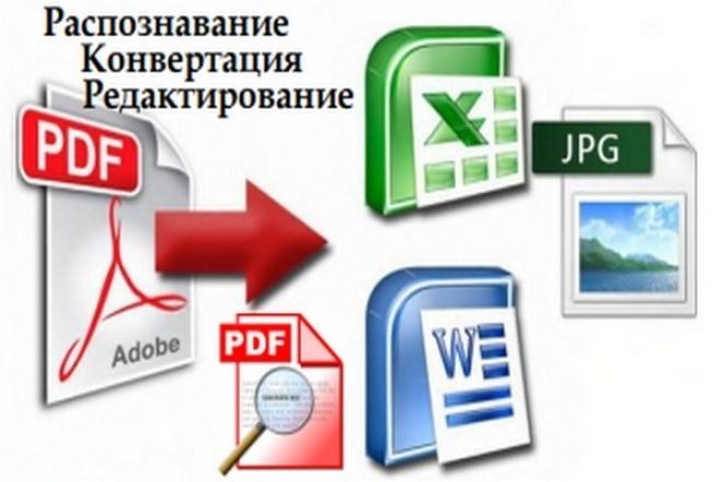Распознавание, конвертация, редактирование PDF -файлов и изображений 1 - kwork.ru