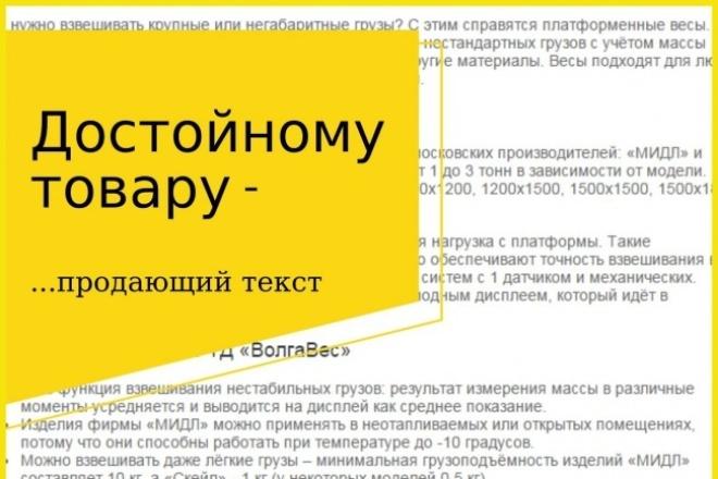 Продающий текст для товара 1 - kwork.ru
