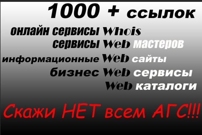 1000 + ссылок с сервисов для web мастеров без АГС. Рост ТИЦ 1 - kwork.ru