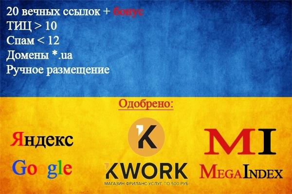 20 ссылок с украинских сайтов - ручное размещение в профилях 1 - kwork.ru