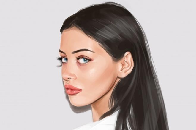 Красивый цифровой портрет 1 - kwork.ru