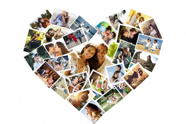 Фотоколлаж СердцеФотомонтаж<br>Изготовлю коллаж из фотографий в форме сердца. Работаю с каждой фотографией, размещаю так, что будут видны лица на всех фото, все красиво и компактно сформировано без острых углов, никаких фотографий вверх ногами, при желании можно рассмотреть каждое фото. Учту все ваши пожелания по размещению той или иной фотографии. Ни одна программа так не сделает.<br>