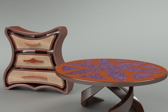 3d модель мебелиФлеш и 3D-графика<br>Моделирование мебели по вашим эскизам и фото + рабочая документация на изготовление. Визуализация и редактирование.<br>