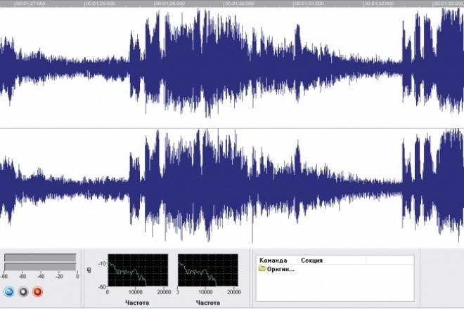 Отредактирую любое аудиоРедактирование аудио<br>Разрежу, склею аудиозаписи; отредактирую эквализацию, частотные диапазоны; проведу мастеринг и сведение, при необходимости добавлю звуковые эффекты.<br>