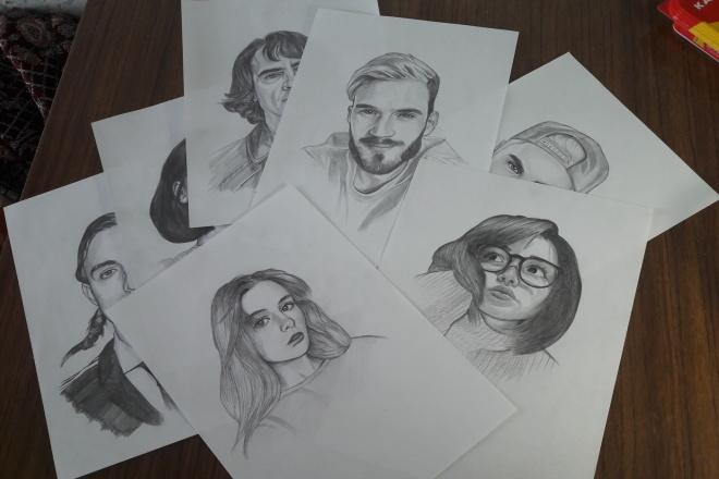 Нарисую портрет по фото простыми карандашами на формате А4 1 - kwork.ru
