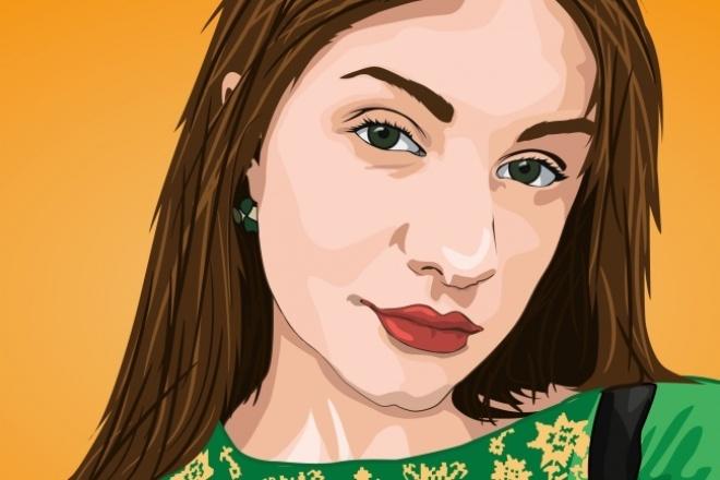 Сделаю векторний портрет 1 - kwork.ru