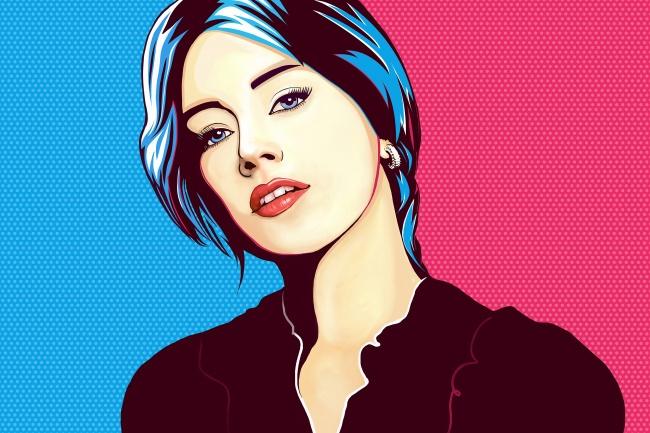 Портрет Pop ArtИллюстрации и рисунки<br>Превратите ваше фото в Поп-Арт портрет! Поп-Арт портрет оживит любой интерьер и станет прекрасным подарком! Вся работа выполняется индивидуально на графическом планшете.<br>