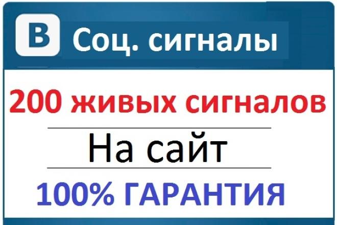 200 соц.сигналов на сайт. Живые и вручную.Медленно и качественно 1 - kwork.ru