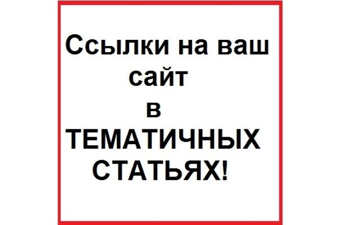4 ссылки в тематичном тексте под ваш анкор на трастовых ресурсах 1 - kwork.ru