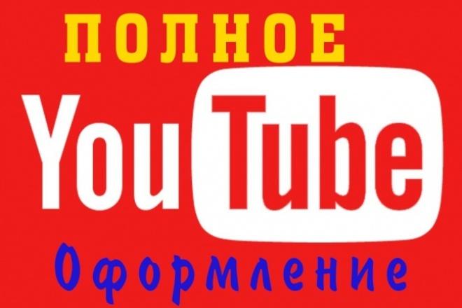 Сделаю полное оформление канала 1 - kwork.ru