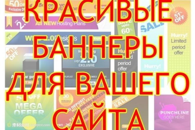 нарисую рекламный баннер 1 - kwork.ru