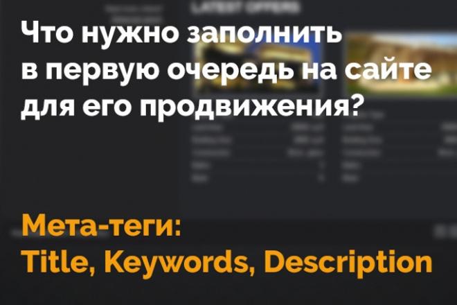 Пропишу метатеги для 10 страниц вашего сайта 1 - kwork.ru