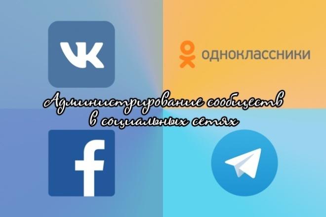 Администратор Ваших сообществ в социальных сетяхПродвижение в социальных сетях<br>Буду следить за Вашей группой (публичной страницей), обновлять её и публиковать посты в течение 10-ти дней. Если Ваше сообщество существует не только ВКонтакте , но и в других социальных сетях, то Вы можете заказать дополнительную услугу по администрированию и в них. Возможно создание Вашего сообщества в других социальных сетях . Примерное количество постов в день: 6-10 . Доступны следующие социальные сети: ВКонтакте Одноклассники Facebook Telegram (канал)<br>