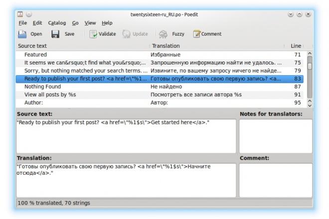 Локализация шаблона, темы или плагина для WordPress 1 - kwork.ru