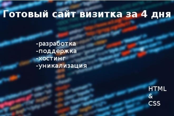 Сайт-визитка. Быстро 1 - kwork.ru