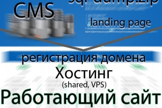 Рег.домена + сайт на хостинг 1 - kwork.ru