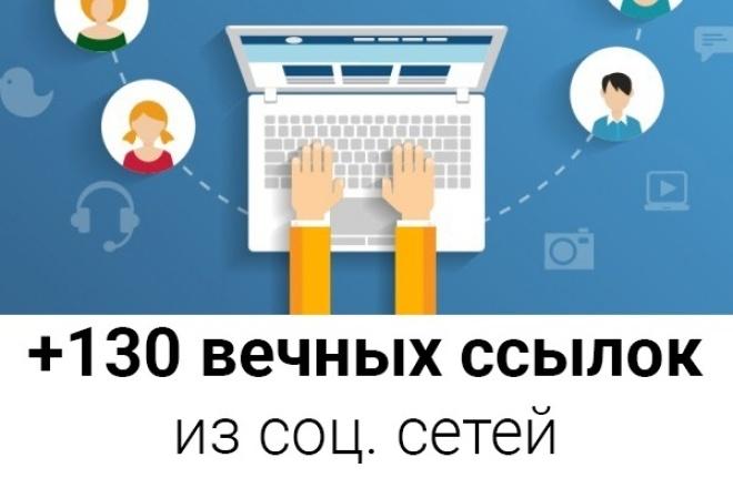 +130 вечных SEO ссылок из социальных сетей для сайта Вашего проекта 1 - kwork.ru
