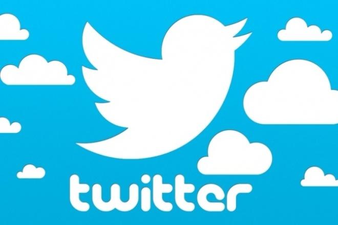 Опубликую рекламу на странице в твиттере 13, 6 тыс подписчиковПродвижение в социальных сетях<br>Добрый день! В рамках данного кворка я размещу рекламный пост на странице в твиттере, у меня 13, 6 тыс подписчиков. Пост публикую навсегда, не удаляю.<br>