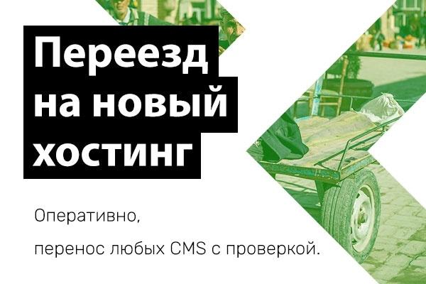 Перенос сайта на новый хостинг + 2 месяца в подарок 1 - kwork.ru