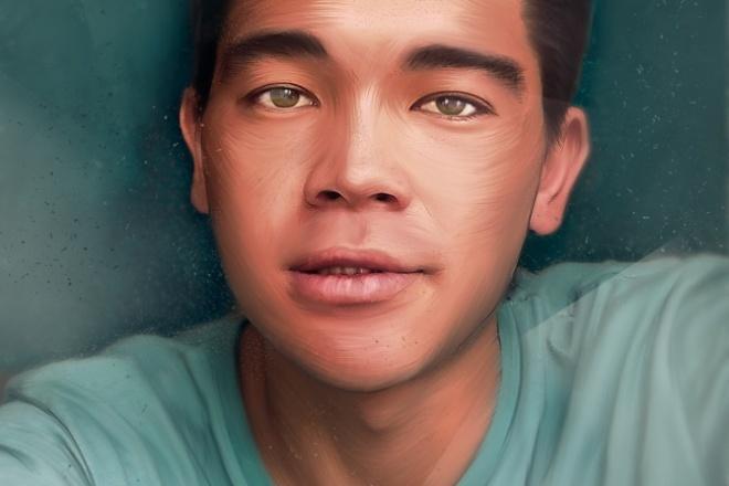 сделаю портрет в стиле ART 1 - kwork.ru