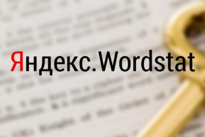 Соберу ключи из Яндекс.Wordstat 1 - kwork.ru
