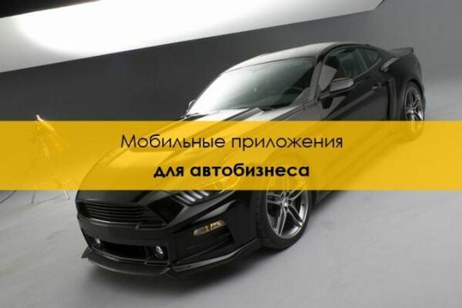 Мобильное приложение для автобизнеса 1 - kwork.ru