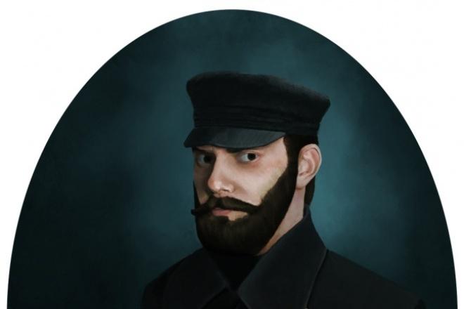 Нарисую портрет, иллюстрациюИллюстрации и рисунки<br>Портрет из фото! Сочно, пастельно, мрачно, красочно; под импрессионистов, академистов, лоу-поли, вектор - как захотите. Делаю, как Вам надо, а не как вижу ;)<br>
