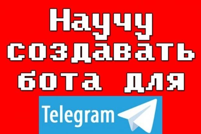 Научу создавать бота для Telegram на Python 1 - kwork.ru
