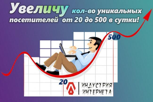 Увеличу количество уникальных посетителей на ваши сайты, блоги 1 - kwork.ru