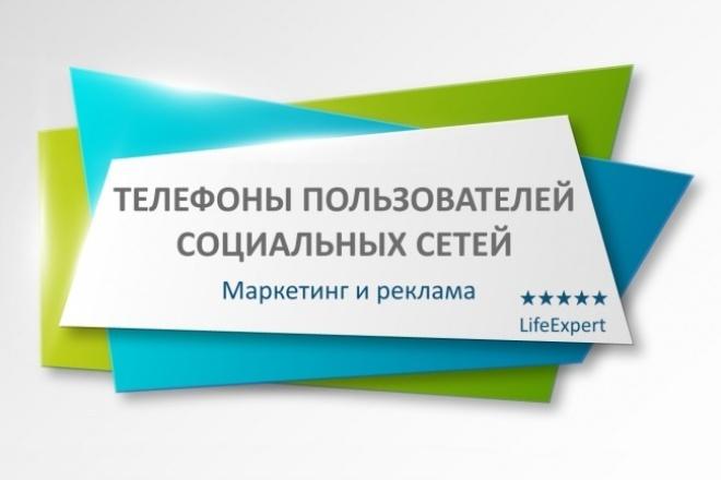 Телефоны пользователей социальных сетей 1 - kwork.ru