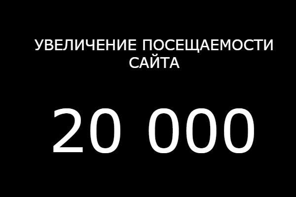 Увеличу посещаемость сайта 20 000 пользователей 1 - kwork.ru