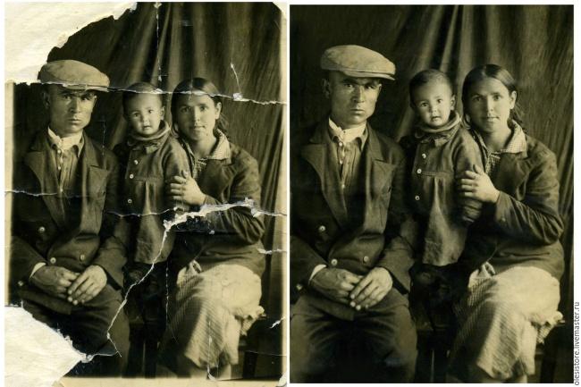 Профессиональная реставрация фотоОбработка изображений<br>Быстро и качественно выполню профессиональную реставрацию фото! Реставрирую старые фотографии любого качества, удаляю заломы, царапины, пятна, восстанавливаю потерянные фрагменты. Работу делаю качественно и профессионально, подхожу с душой к каждой фотографии!<br>