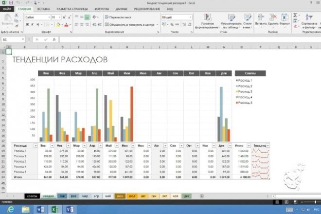 Работаю в ExcelПерсональный помощник<br>Работаю в Excel - набираю текст, редактирую, делаю таблицы, диаграммы, решаю математические формулы.<br>