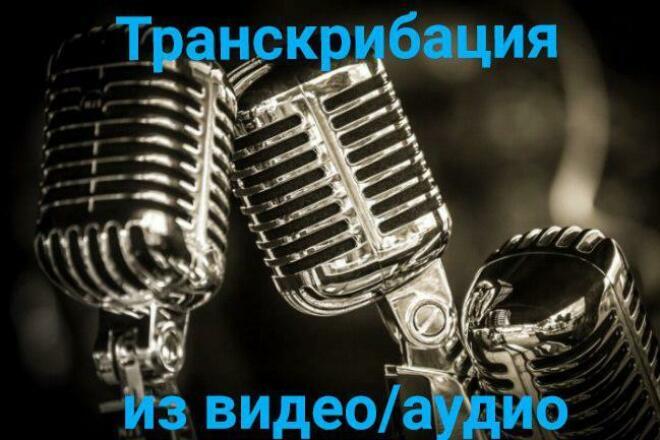 Расшифровка текста с аудио- видеозаписи 1 - kwork.ru