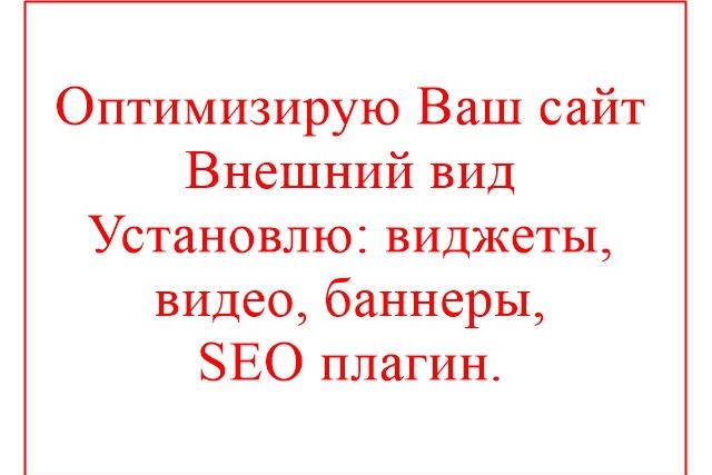 Оптимизация сайта 1 - kwork.ru