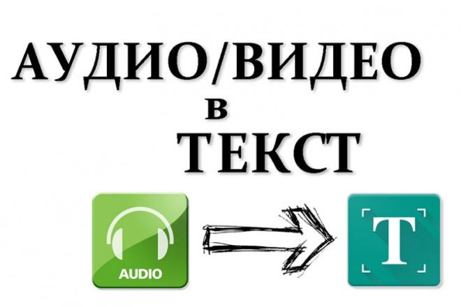 Транскрибация - перевод в текст аудио или видеоматериалов 1 - kwork.ru