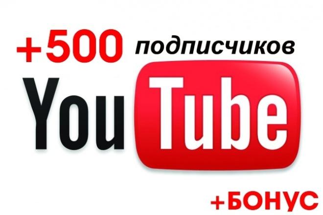 500 подписчиков YouTube канал. С гарантией +БонусПродвижение в социальных сетях<br>Что вы получите при заказе данного кворка? 500 подписчиков гарантированно +Бонус в виде 30 подписчиков в добавок Процент отписок не превышает 5 % Подписчики на YouTube – это бесценный актив, в силах которого удержание и повышение уровня Вашей популярности. А важным моментом оказывающим влияние на успешность Ютуб аккаунта в целом выступают поведенческие факторы, они тесно переплетаются во взаимодействии с публикуемым Вами контентом. Если применять данный механизм умеючи и верно, можно в кратчайшие сроки повысить рейтинги, как роликов, так и самого YouTube аккаунта. От общего рейтинга чаще зависит ранжирование Ваших видео в разделе схожих роликов, а также топовые позиции при вводе поисковых Ютуб запросов. Почему именно я? ? Гарантия качества работы ? Естественное увеличение числа ваших подписчиков ? 100% безопасно. Ваш канал не заблокируют! ? Подходит для любых партнерок Adsense, Air, VSP, Quiz ? По окончании работы, абсолютно все получают бонус! Аудитория Страницы пользователей - микс (весь мир), преимущественно подписчики из СНГ. Внимание! Число отписавшихся, как правило, составляет не более 5%. Этот процент отписавшихся может быть компенсирован покупателю в любой момент по первому запросу!<br>