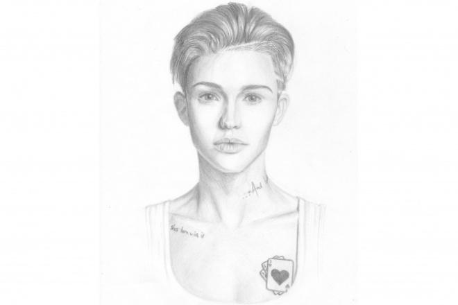 Нарисую портрет по фотоИллюстрации и рисунки<br>Нарисую портрет в акварели или карандаше по Вашему фото. Это может быть как человек, так и животное. Портрет будет отсканирован и отправлен в хорошем качестве.<br>