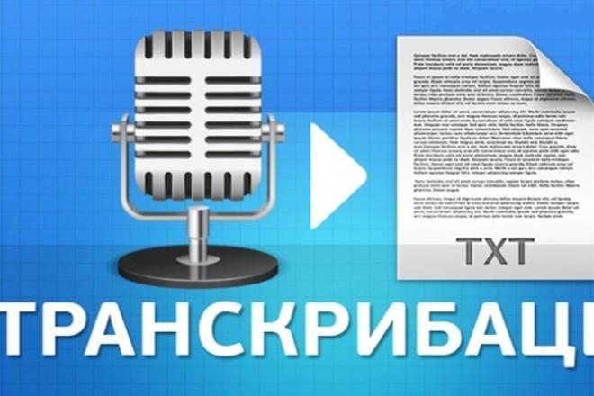 Дословная Транскрибация 1 - kwork.ru
