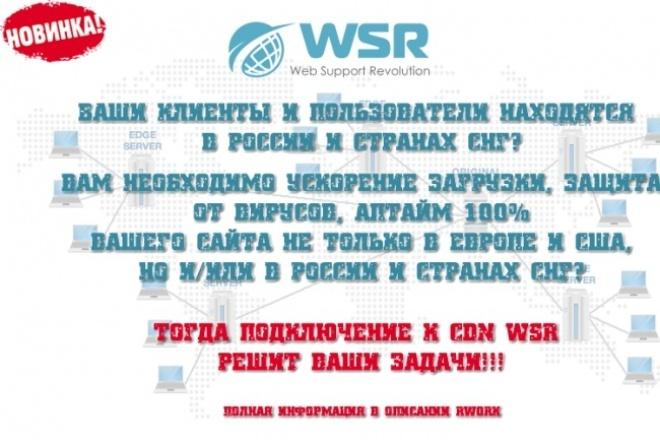 Ускорение сайтов,  ориентированных на пользователей из РФ и СНГ 1 - kwork.ru
