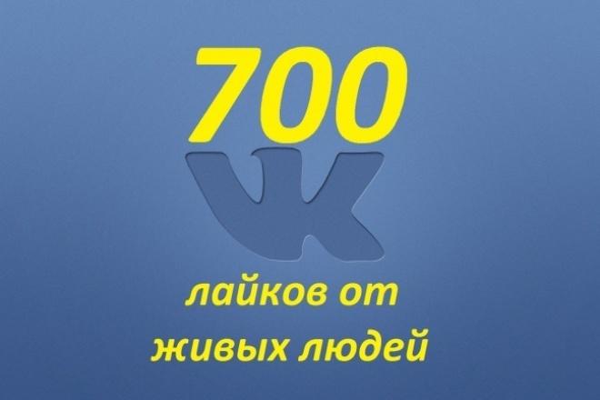 700 лайков от живых людей 1 - kwork.ru