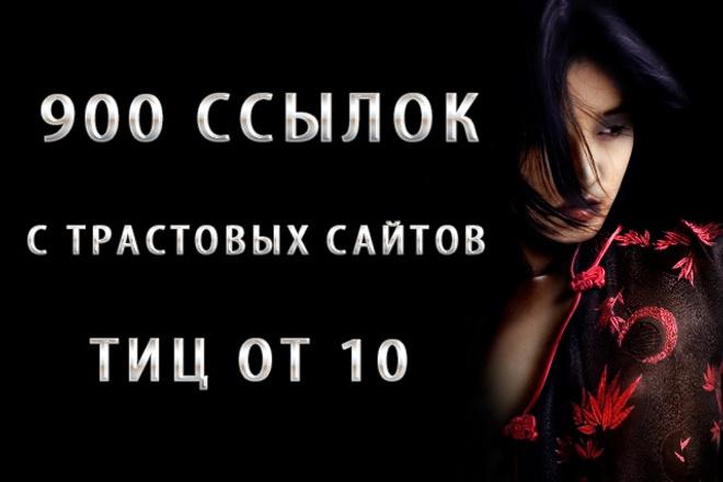 Более 900 вечных ссылок с трастовых сайтов 1 - kwork.ru