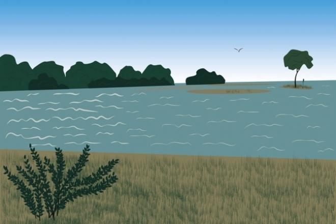 Нарисую векторный фон в плоском стиле 1 - kwork.ru