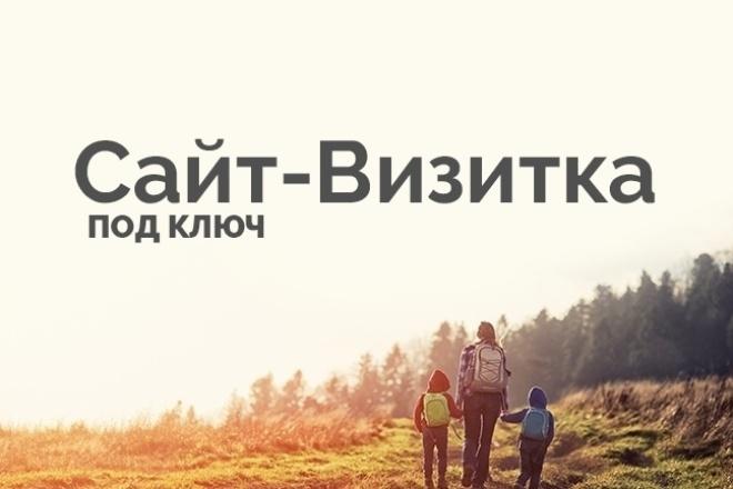 Разработка сайта-визитки для малого бизнеса 1 - kwork.ru