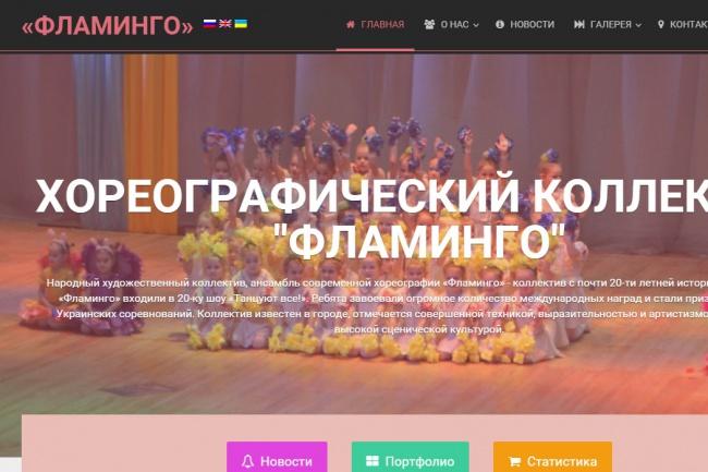 Оформлю сайт и положу на хостинг 1 - kwork.ru