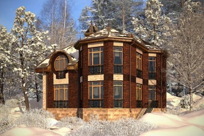 Спроектирую дом и коттедж за 1 м. кв. 1 - kwork.ru